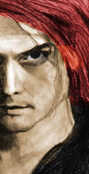 Gerard Way, Photoshop colored sketch by CoffeeNoise