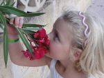 my sister with a flower by dragonfan0511