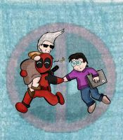 Deadpool and Pals by Lieju