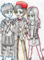 Amy, Rory, and 11 by HeartlessVampire