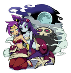 Shantae and Bonelegs by white-stew