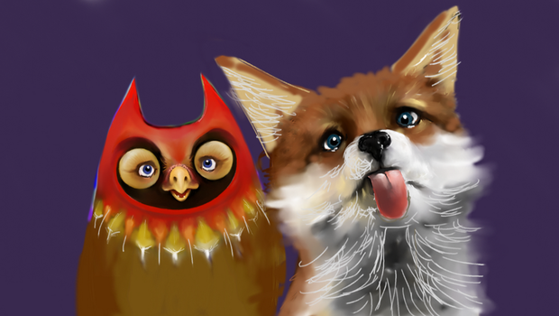 owl and fox WIP by JeremyMcCabe