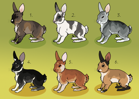 Easter bunny adoptables :TAKEN: by Kultapossu