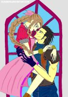 Zack x Aerith: Look Into Your Eyes by eleamaya