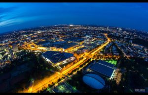 Munich from above by pixelimage