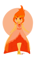 Fancy Flame Princess by animehero1