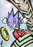 Sonic the Hedgehog - Sonic by SpaceCowboy-D