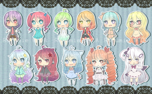 Cheebs OCs by Aruella