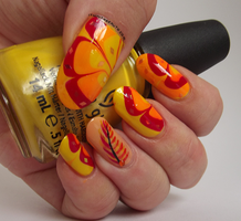 Phoenix Feather Water Marble by Ithfifi