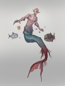 Merman Concept Sketch by jordyskateboardy