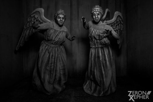 Weeping Angels - Alley 1 by Kilayi
