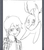 Marshall lee and Fionna by 1luna2