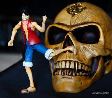 Luffy and skull by JoelRemy222