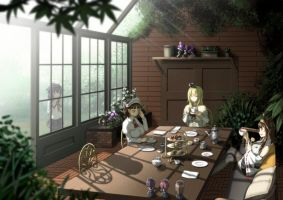 Lady 's tea party by misumi-illustration