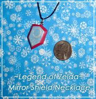 Zelda - Mirror Shield Necklace by YellerCrakka
