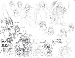 Even more Wreck-It Ralph fan-doodles by Naturally1nsane