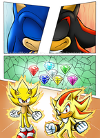 Sonic Archie Portfolio: Comic Page 1 by SailorMoonAndSonicX
