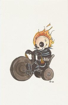 Ghost Rider by AmberStoneArt