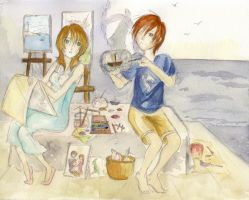 two artists by rainELL