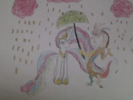 Celestia and Discord by Meadow-Leaf
