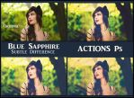 Blue sapphire  ACTIONS Ps  by Tetelle-passion