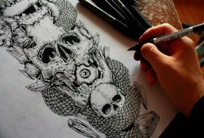 Skull details (work in progress) by TheFreaksWorld