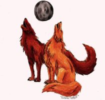 Howling Wolves by 1Rootbeer