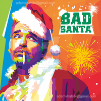 WPAP Artwork of Bad Santa by AdamKhabibi