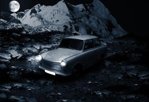 Trabant in the moon light by dani0001