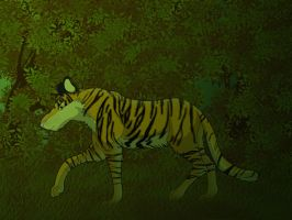Tiger in the Jungle by purapuss