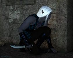 Draevin - Drow Footpad by wheeter