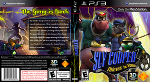 Sly Cooper Thieves in Time (PS3) Custom Cover by StarfireEspo