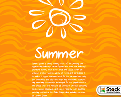 Free Summer Vector Background by Stockgraphicdesigns