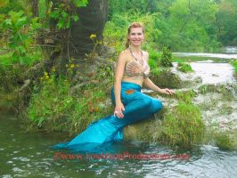 Tethys on the bank. by FoxmoonMerfolk