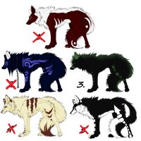 wolf adoptables by MissPh0enix