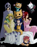 Fairy tail halloween fairies SPEED COLOUR -colour- by Honda-Thoru