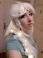 new styling - The Last Unicorn wig by Gekroent