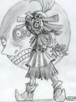 Skull kid Zelda by lacewing