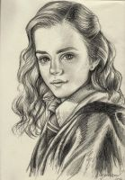 Hermione - Portrait Practice #0003 by Fjalldis