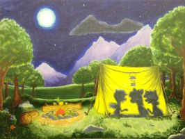 Camping in the Moonlight by Amethyst-City