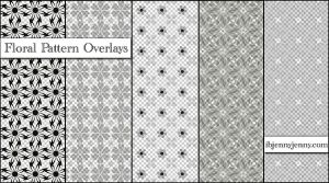 Floral Pattern Overlays Set 2 by ibjennyjenny