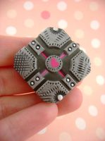 Industrialized Companion Cube by monsterkookies