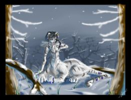 Siberian winter night by BlackPhrost-Ixion