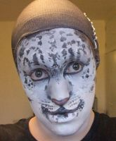 Snow Leopard makeup 1 by forestfruits1