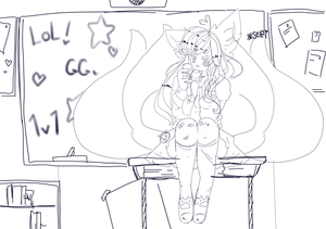 school ahri sketch + urgent updates by renonoo