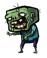 Minecraft Zombie by SirCaterpie