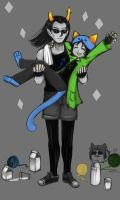 Nepeta and Equius by salihombox