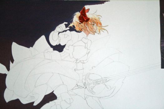Saber coloring progress by Angelstorm-82