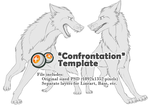 Canine Confrontation Template/Base *Price Dropped* by The-Nutkase