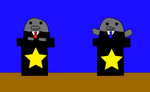 Presidential Debate Manatee Adoptables: 5 points by ManateeInTheMoon